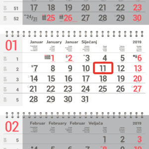 koledar 2019